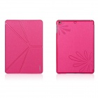 XUNDD Protective PU Leather Case Cover w/ Stand for Ipad AIR - Deep Pink