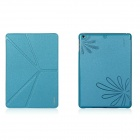 XUNDD Protective PU Leather Case Cover w/ Stand for Ipad AIR - Lake Blue