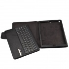 Desmontable V3.0 Bluetooth Wireless 64-Key Keyboard w / caja de cuero para Ipad AIR - Negro
