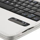 Detachable Wireless Bluetooth V3.0 64-Key Keyboard w/ PU Leather Case for Ipad AIR - White
