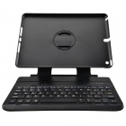 IBK-06 Wireless Bluetooth V3.0 64-Key Keyboard Case w/ Detachable Rotating Stand for Ipad AIR -Black