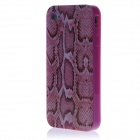 Boa Constrictor Style Protective TPU Back Case for Iphone 4 / 4s - Deep Pink + Brown