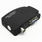 C6A High Resolution Video BNC to VGA Converter Adapter - Black