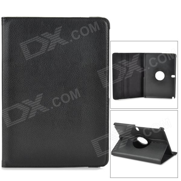 Lychee Grain Protective 360 Degree Rotation PU Leather Case for Samsung P600 / P601 - Black lychee grain style 360 degree rotation pu leather case for samsung galaxy tab pro t320 8 4 black