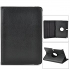 Lychee Grain Protective 360 Degree Rotation PU Leather Case for Samsung P600 / P601 - Black