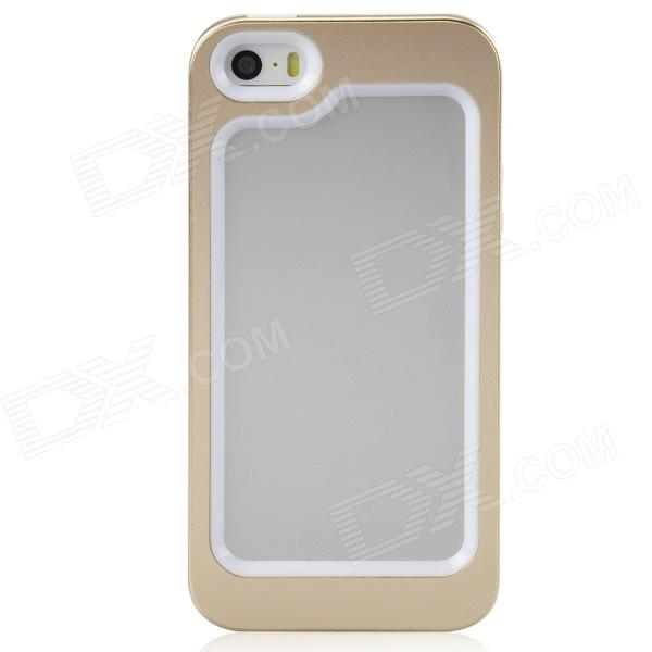 Zomgo Stylish Protective Aluminum Alloy + Silicone Bumper Frame for Iphone 5 / 5s - Champagne Gold protective aluminum alloy bumper frame case for sony xperia z2 champagne gold