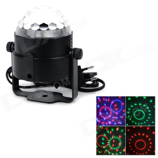 Universal 3W 2-Mode 3-LED RGB Light Stage Lamp w/ Holder - Black + Silvery White ( AC 100~240V)