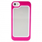 Zomgo Stylish Protective Aluminum Alloy + Silicone Bumper Frame for Iphone 5 / 5s -  Deep Pink