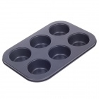 6 Cup Stainless Steel Muffin Pan - Dark Grey