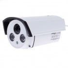 "Weipus WPS-GT820X1H Waterproof 1/3"" CCD 420TVL 45 Degree Night Vision IR Camera w/ 2-IR LED - White"