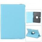 Lychee Grain Protective 360 Degree Rotation PU Leather Case for Samsung P600 / P601 - Sky Blue