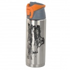 SUNREE SPO-108 Outdoor Sports Stainless Steel + PP Water Bottle - Silver + Grey + Multicolored