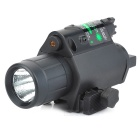 Aluminum Alloy + ABS 5mW 532nm Green Light Laser Gun Scope Sight w/ LED Light - Black