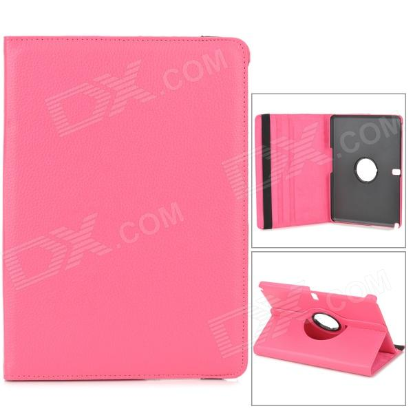 Lychee Grain Protective 360 Degree Rotation PU Leather Case for Samsung P600 / P601 - Deep Pink levett caesar prostate massager for 360 degree rotation g spot