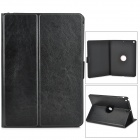 Protective 360' Rotating Back PC + PU Leather Case w/ Holder + Auto Sleep for Ipad AIR / 5 - Black