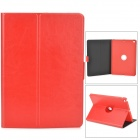 Protective 360' Rotating Back PC + PU Leather Case w/ Holder + Auto Sleep for Ipad AIR / 5 - Red