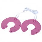 Acupuncture Slimming Digital Therapy Massager Breast Electrode Pads - Deep Pink + Black (2 PCS)