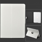 Protective 360' Rotating Back PC + PU Leather Case w/ Holder + Auto Sleep for Ipad AIR / 5 - White
