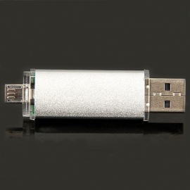 Unique Cellphone-used USB 2.0 to Micro USB Interface Datatraveler USB Disk - White (8GB)