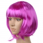 Fashionable Short Straight Hair Wig w/ Bangs for Show / Party - Purple