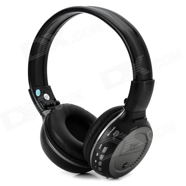 ZEALOT B-560 Stereo Bluetooth v2.1 + EDR Headphones w/ TF / FM / Microphone - Black + Deep Grey good quality original zealot b19 led screen stereo headset bluetooth headphones headband headsets with fm tf for mp3 player