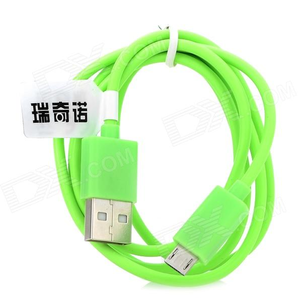 RIchino RS-M01 USB til mikro-USB Data/lading kabel for Nokia / Samsung / HTC / Motorola - grønn