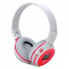 "ZEALOT B-570 1.5"" LCD Stereo Bluetooth v2.1 + EDR Headphones w/ TF / FM / Microphone - White + Pink"