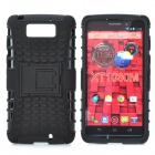 Protective TPU + PC Back Case w/ Stand for MOTO Droid MAXX XT1080M - Black