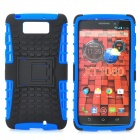 Protective TPU + PC Back Case w/ Stand for MOTO Droid MAXX XT1080M - Black + Blue