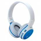 ZEALOT Bluetooth v2.1 + EDR Headphones w/ TF / FM / Microphone - White + Blue