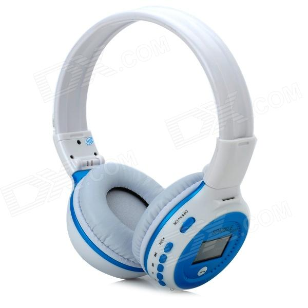 ZEALOT 1.5 LCD Stereo Bluetooth v2.1 + EDR Headphones - White + BlueHeadphones<br>Form  ColorWhite + BlueBrandZEALOTModelN/AMaterialPlasticQuantity1 DX.PCM.Model.AttributeModel.UnitEar CouplingHeadbandBluetooth VersionBluetooth V2.1Operating Range5~8mRadio TunerYesMicrophoneYesSupports MusicYesConnects Two Phones SimultaneouslyNoApplicable ProductsPS3,IPHONE 5,IPHONE 4,IPHONE 4S,IPHONE 3G,IPHONE 3GS,IPOD,IPADBuilt-in Battery Capacity 600 DX.PCM.Model.AttributeModel.UnitBattery TypeLi-polymer batteryTalk Time10 DX.PCM.Model.AttributeModel.UnitMusic Play Time8Standby Time200 DX.PCM.Model.AttributeModel.UnitPower AdapterOthers,USB PoweredPower Supply5V / 500mAOther Features1.5 LCD display screen; Operation language: English; Stereo headphones function; Bluetooth v2.1 + EDR standard; Supports HSP / HFP / A2DP / AVRCP; Frequency: 2.4~2.48GHz; Charging time: 3~4 hours; Compatible with the cell phone and tablet PC with Bluetooth function; Supports TF card up to 32GB; Supports MP3 / WAV / WMA formats; Supports FM radio (87~108MHz)Shade Of ColorBluePacking List1 x Bluetooth headphones 1 x USB charging cable (46cm)<br>