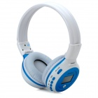 "ZEALOT 1.5"" LCD Stereo Bluetooth v2.1 + EDR Headphones w/ TF / FM / Mic - White + Blue"