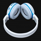 "ZEALOT 1.5"" LCD Stereo Bluetooth v2.1 + EDR Headphones - White + Blue"
