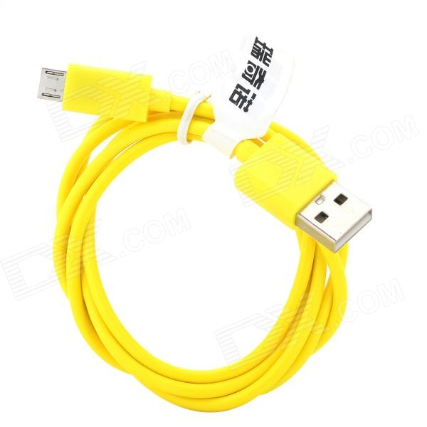 RIchino RS-M01 USB to Micro USB Data/Charging Cable for Nokia / Samsung / HTC / Motorola - Yellow richino rs m01 usb to micro usb data charging cable for nokia samsung htc motorola orange