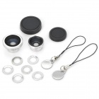 Magnetic Wide Angle + Fish Eye + Macro Lens Set for iPhone, Samsung