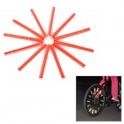 304101 Cycling Bike Wheel Reflective Rods - Red (12 PCS)