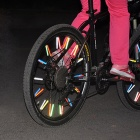 Cycling Bike Wheel Reflective Rods - Red (12 PCS)