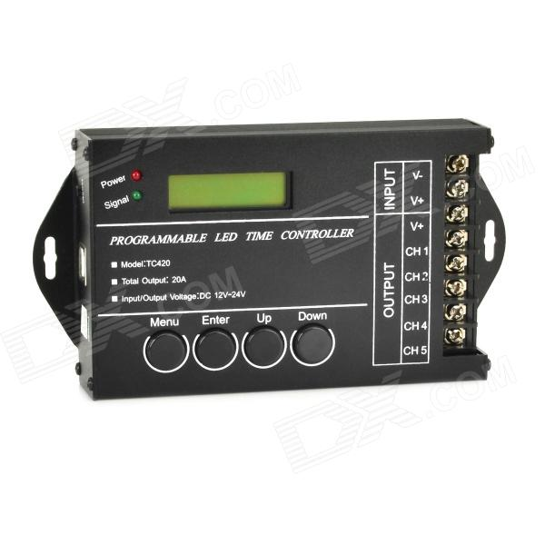 "1.5"" LED Programmable Time Controller - Black (12~24V / 130cm-Cable)"