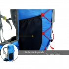 LOCAL LION Outdoor Sports Multifunction Nylon Backpack - Sapphire Blue (35L)