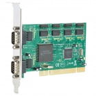 IOCREST MM-PIO9865-6S PCI to RS232 Serial Expansion Controller Card w/ Moschip 9865 Chip - Green