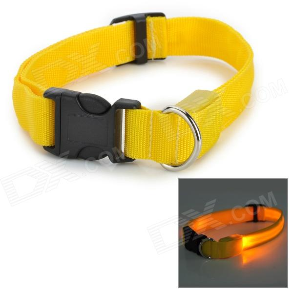 LED Flashing Night Safety Collar for Pet Dog / Cat - Yellow