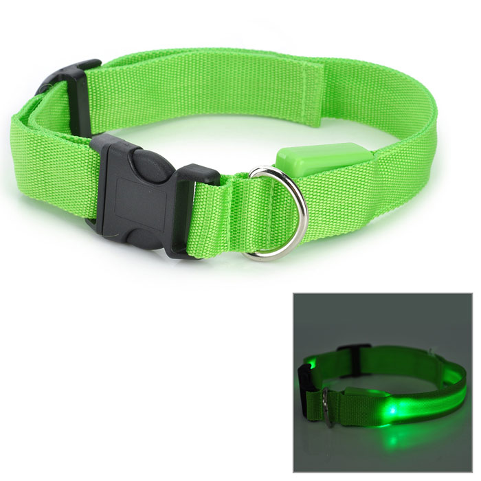 LED Flashing Night Safety Collar for Pet Dog / Cat - Green