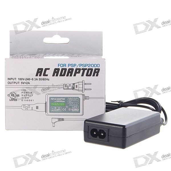 EU Charger/Power Adapter for PSP 1000/2000/Slim/3000 (100~240V AC)