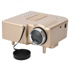 Geekwire LP-4 Portable FHD 1080P LED Projector w/ HDMI, VAG, USB 2.0, AV, SD, RC - Champagne Gold