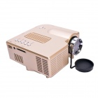 Geekwire LP-4A Portable FHD 1080P LED Projector w/ HDMI, VAG, USB 2.0, AV, SD - Golden (US Plug)