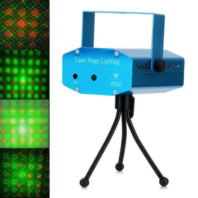 Four Patterns 50mW Green + 100mW Red Laser Stage Lighting Projector