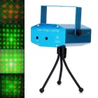 Four Patterns 50mW Green + 100mW Red Laser Stage Lighting Projector with Tripod - Blue