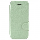 Silk Style Protective PU Leather Case for Iphone 5C - Light Green