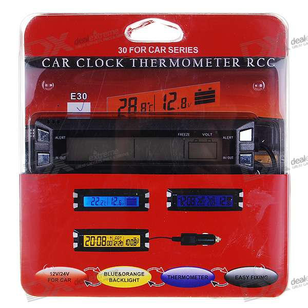"3.8"" LCD Digital Thermometer + Voltage Measuring Bar for Vehicles"