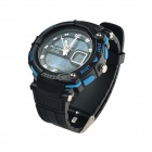 ALIKE AK1391 Sports 50m Water Resistant Men's Quartz Digital Wrist Watch - Black + Blue